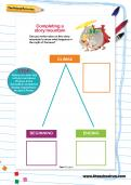 Completing a story mountain worksheet