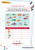Completing a tally chart worksheet