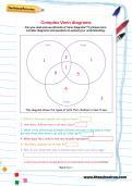 Complex Venn diagrams worksheet