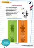 Composing a letter worksheet