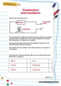 Conductors and insulators worksheet