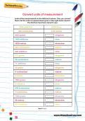 Convert units of measurement worksheet