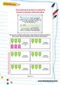 Converting fractions using the lowest common denominator worksheet
