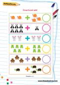 Count and add worksheet