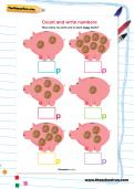 Count and write numbers worksheet