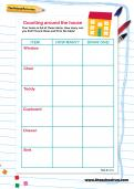 Counting around the house worksheet