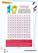 Counting in 10s: colour-in grid