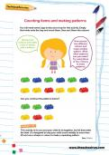 Counting items and making patterns worksheet