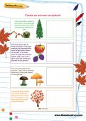Create an autumn scrapbook