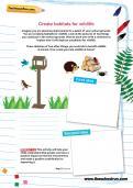 Create habitats for wildlife worksheet