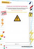 Create your own electrical warning sign