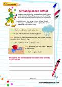Creating comic effect worksheet