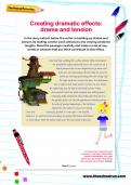Creating dramatic effects: drama and tension worksheet