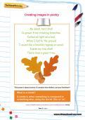 Creating images in poetry worksheet