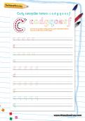 Handwriting worksheet: curly caterpillar letters