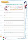 Handwriting worksheet: curly caterpillar letters