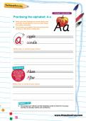 Handwriting practice: joined-up alphabet worksheets