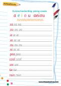 Joining vowels: handwriting practice activity