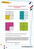 Decimal and fraction equivalence racing game