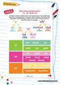Decoding graphemes: 'o', 'ie' and 'ch' worksheet