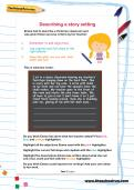 Describing a story setting worksheet