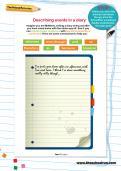 Describing events in a diary