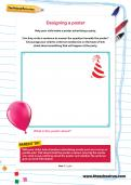 Designing a poster worksheet