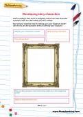 Developing story characters worksheet
