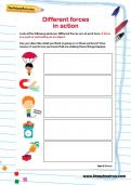 Different forces in action worksheet