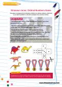 Dinosaur races: Ordinal Numbers Game