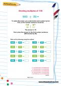 Dividing multiples of 100 worksheet