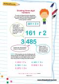 Dividing three-digit numbers