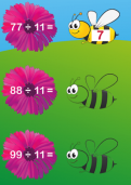 Learning division facts for the 11 times table tutorial