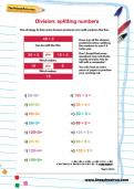 Division: splitting numbers worksheet