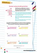 Division using chunking practice worksheet