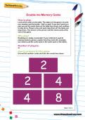 Double me Memory Game worksheet