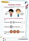 Doubling a number worksheet