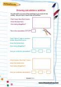 Drawing calculations: addition worksheet