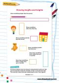 Drawing lengths and heights worksheet