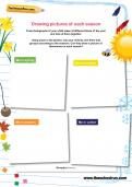 Drawing pictures of each season worksheet