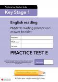 TheSchoolRun KS1 SATs English practice test E