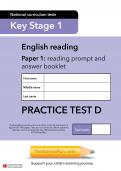 TheSchoolRun KS1 SATs English practice test D