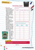 Estimating weight worksheet