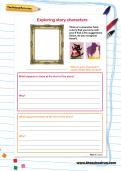 Exploring story characters worksheet