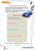 Expressing opinion in writing worksheet