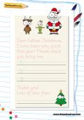 Father Christmas handwriting template