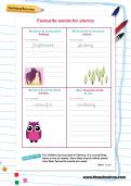 Favourite words for stories worksheet