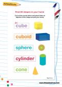 Find 3D shapes in your home activity