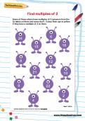 Find multiples of 2 worksheet