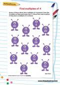 Find multiples of 4 worksheet
